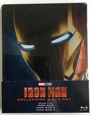 Blu-Ray Iron Man Trilogy (3 Blu-Ray) (Steelbook) ORIGINALE E SIGILLATO