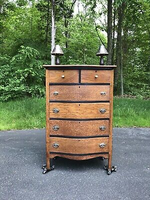 Depression Era Bow Front Dresser
