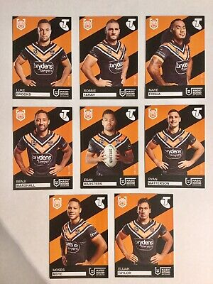 2019 Nrl Magic Round Trading Cards – Wests Tigers Complete Team Set