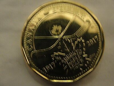 Set of 2 ****2017 Canada Loonie ~ Toronto Maple Leafs 100th Anniversary