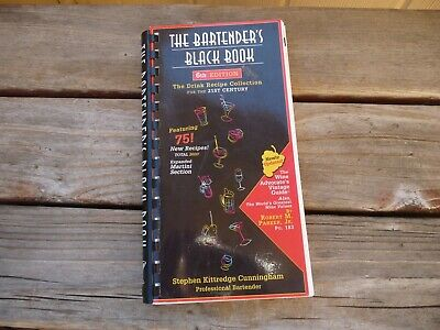 The Bartender's Black Book by Stephen Kittredge Cunningham (2001, Spiral) BOGO