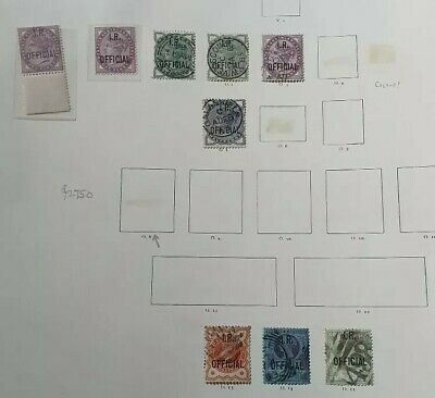 Gb Stamps Queen Victoria 9X Officials Used And Mint