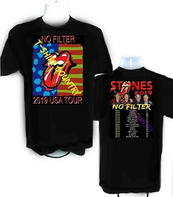 Rolling Stones t-shirt No Filter UPDATED tour dates 2019 sizes S - 6XL Tall