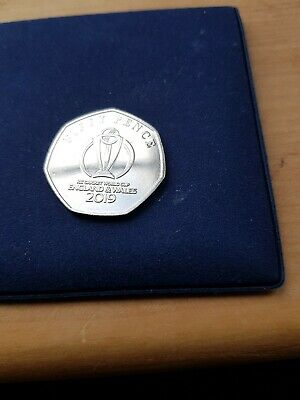CRICKET  Isle Of Man ICC Cricket World Cup 2019 50P COIN Official Emblem  UNC