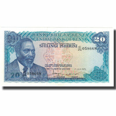 [#596897] Billete, 20 Shillings, Kenia, 1978-07-01, KM:17, UNC