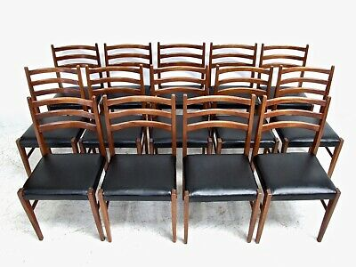 Useful Set 14 Vintage Danish Style Teak Dining Chairs Mid-Century Vintage Retro