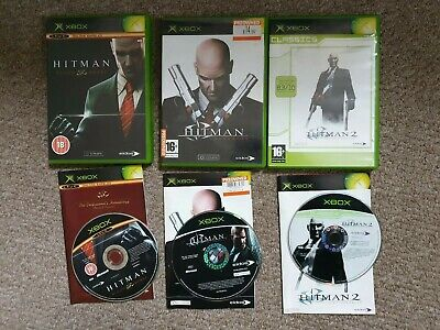 Hitman Trilogy Blood Money Contracts Xbox Originals Rare 3 Games with manuals