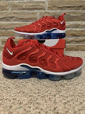 5d746d98c3 Nike Air Vapormax Plus USA Red White Blue Mens Size 11.5 Rare 924453-601  Running