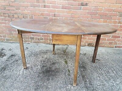 Good Quality Antique Solid Mahogany Oval Drop Leaf Gate Leg Dining Tea Table