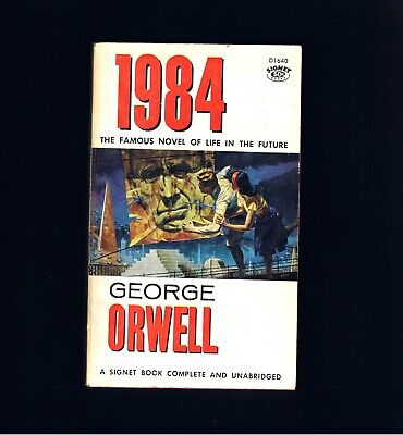 Vintage ~ George Orwell ~ 1984 ~ Signet Books ~ Life In The Future ~ Ex. Cond