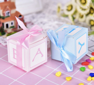 12 Baby Shower Favour Boxes Box Boy Girl Gender Reveal New Baby Party Elephants