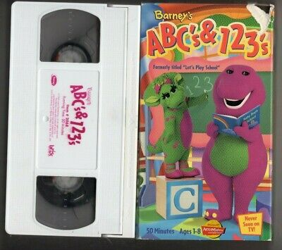 Vintage Barney Vhs Movies Lot 5 Tapes Abc 123 Sharing Kids For