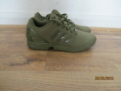 ADIDAS ZX FLUX Mens Shoes Trainers Uk Size 7 Rare All Khaki