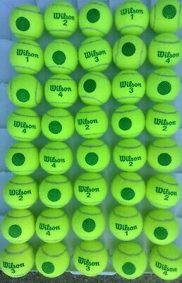 100 used CHILDREN'S MID COMPRESSION  tennis balls --  High Quality WILSON