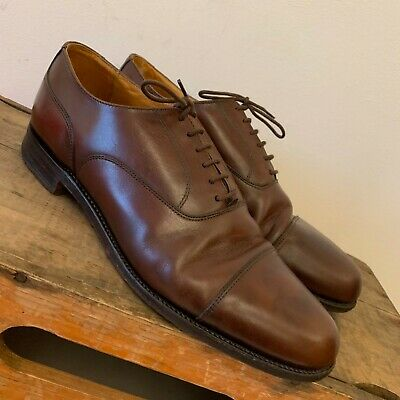 Grenson Uk Size 6.5 Mens Vintage Brown Leather Oxford Shoes Lace Ups
