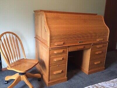 Tremendous Authentic Extra Large Winners Only Solid Oak Roll Top Desk Dailytribune Chair Design For Home Dailytribuneorg