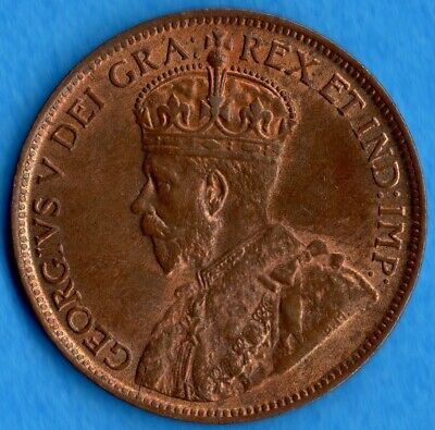 Canada 1919 1 Cent One Large Cent Coin - Choice Uncirculated