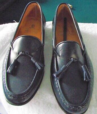 9ee9b53ec6bea The House Of Bruar - Navy Blue Loafers - leather Tops & Soles Size 6 -