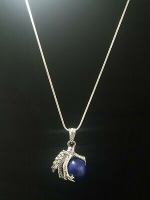 Dragon Claw Lapis Lazuli Gem Pendant Necklace Your Choice of Chain