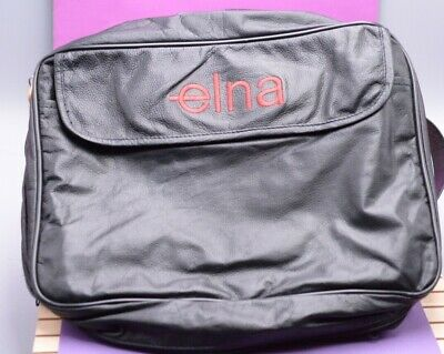 Elna Soft side Case, black, with logo, zippered, with with pockets/storage
