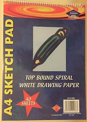A4 Artist Sketch Drawing Pad Book 40 Sheets - 75 GSM