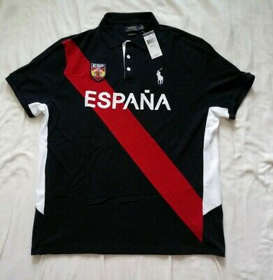 ec8a91642 POLO RALPH LAUREN Spain Spell Out Big Pony Rugby Polo Shirt Men s ...