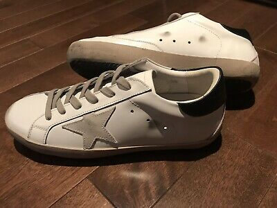 23144bee2 Golden Goose Superstar White Leather Grey Mens Sneakers Size 44 Great  Condition