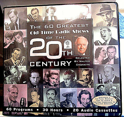 "20 AUDIO CASSETTES ""THE 60 GREATEST OLD-TIME RADIO SHOWS OF THE 20th CENTURY"""