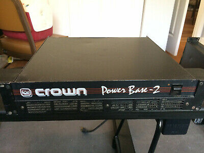 Crown Power Base-2 Professional 2-Channel Amplifier- tested and working