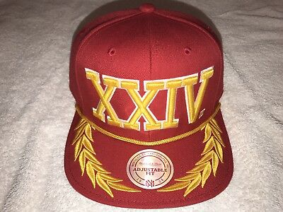 Bruno Mars Exclusive 24K Magic Xxivk World Tour Mitchell & Ness Cap (Red)!