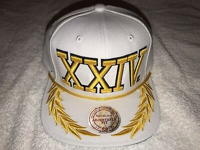 Bruno Mars Exclusive 24K Magic Xxivk World Tour Mitchell & Ness Cap (White)!