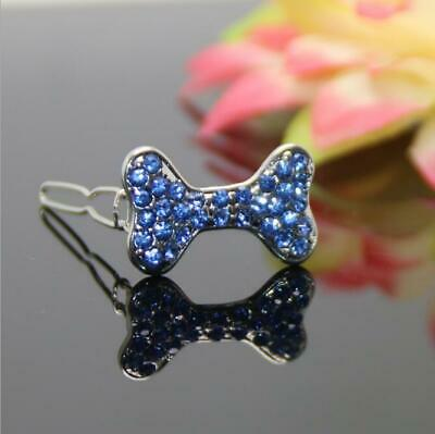 Rhinestone alloy hair accessories hairpin pet accessories cat and dog supplies d