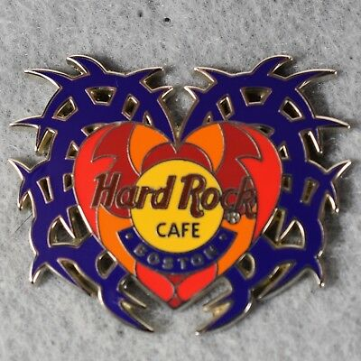 504518561 Hard Rock Cafe Boston 2001 Tattoo Series Heart with Blue Flames Pin LE  --1099