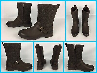 5a41c9a0729 NEW UGG AUSTRALIA Robbie Ankle Boot, Black Leather, Women Size 5 ...