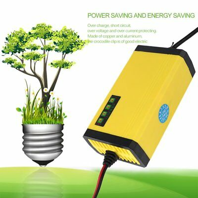 12V 2A Motorcycle Battery Trickle Smart Charger Maintain For Car Boat Automat rd