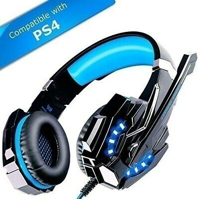 Stereo Surround 3.5mm Mic Gaming Headsets LED Headphones For Cell Phone PS4 Xbox
