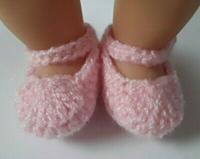 Light Pink Mary Jane booties/shoes/slippers: Dolls Clothes Baby Born My Child