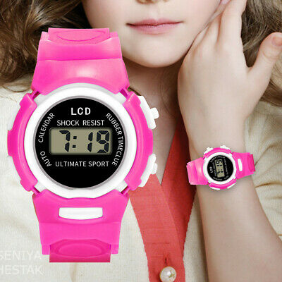 Kids Children Girls Analog Digital Sport LED Electronic Waterproof Wrist Watch