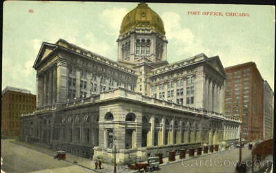 Chicago,IL Post Office Cook County Illinois Antique Postcard Vintage Post Card
