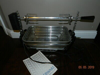 FABERWARE Open Hearth Electric Rotisserie Complete Clean Model 455ND