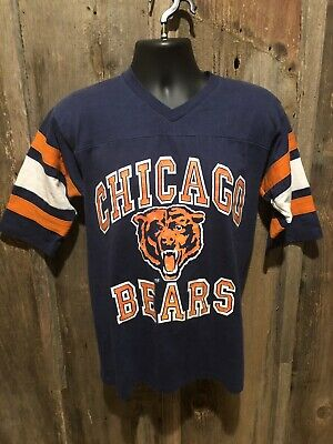 Vintage 80s Chicago Bears Jersey Shirt Logo 7 Super Bowl Football NFL Ditka Med