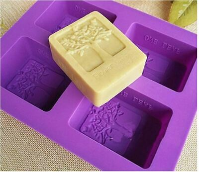 Craft DIY Handmade Block Brick Mold Silicone Tray Bath Soap Mould Stencil