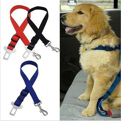 Vehicle Safety Rope For Dogs Pet Seat Belt Cat Safety Leash black 2pcs new