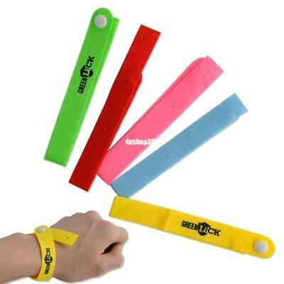 bracelet anti insect bug mosquito repellent wristband bands lock camping 5pcs F