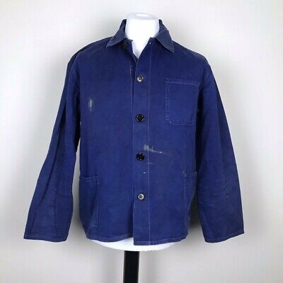 Original 60s French Work Wear / Chore Jacket / Navy, Blue / Vintage