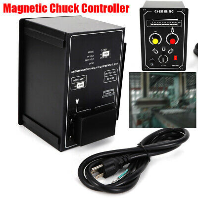 Electro Magnetic Chuck Controller LED Display (5A) 110V Demagnetizing 9-15s USA