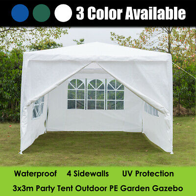 Gazebo Marquee Party Tent Full Sides Waterproof Garden Patio Outdoor Canopy 3x3m
