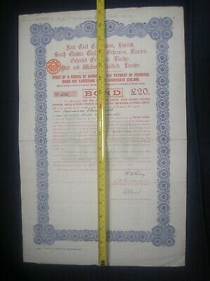 share certificate Kent Collieries 1915