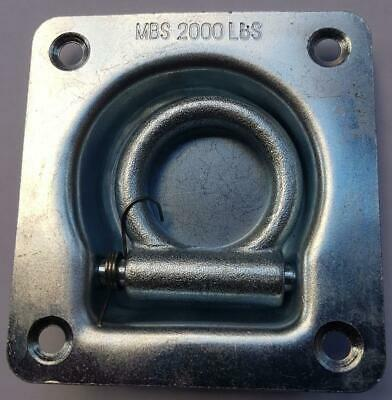 Truck Bed Trailer Ute Point Tie Down Lashing Ring Anchor Recessed D Ring