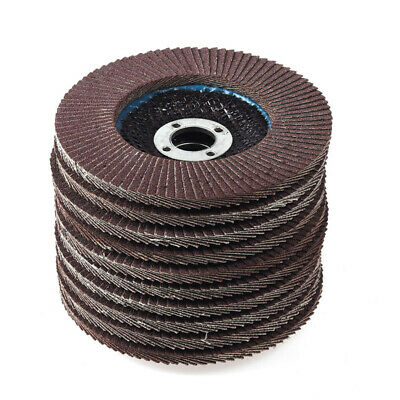 10x Abrasive Flap Sanding Discs Grinding Wheel For Metal Plastic Accessory Tool